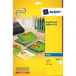 Avery-Zweckform J8435-25 - 25 jaquettes CD Jet d'encre blanches, format 151 x 118 mm (25 feuilles / cdt)
