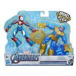 Hasbro Pack de 2 figurines flexibles Iron Patriot vs Thanos Bend & Flex 15 cm