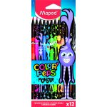 Maped Pochette de 12 crayons de couleur Color'Peps Monster - Assortiment de couleurs