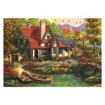 Dino Puzzle 500 pièces : Cottage au bord du lac - Mixte