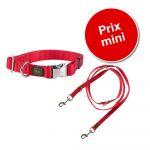 Hunter Laisse Vario Basic, rouge pour chien - L 200 x l 2 cm (rouge)