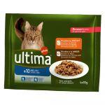 Ultima Bouchées pour chat senior +10 Ans 4 x 85 g (Lot de 4)
