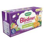 Blédina LOT DE 4 : Blédîner - Céréales lactées aux légumes dès 12 mois 2 x 250 ml