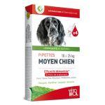 Vetobiol Pipettes antiparasitaires moyen chien 10 à 25 kg (4 pipettes)