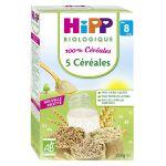 HiPP Biologique 100% Céréales : 5 Céréales 250 g - dès 8 mois