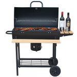 Robby Smoker Chef Xl - Barbecue à charbon 70 x 35 cm avec chariot