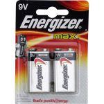 Energizer max 9V Block Batterie (2 Stück)