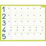 Bouchut grandremy Ardoise blanche effaçable à sec format 21 x 26,5cm, avec les chiffres de 1 à 10