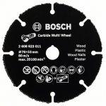 Bosch Disque à tronçonner carbure multi fonction diamètre 76 mm alésage 10 mm