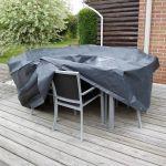 Nature Couverture de meubles de jardin 90 x 225 x 143 cm PE gris foncé