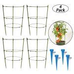 Cage De Tomates Support Plante Jardin Pour Les Kits Plantes Grimpantes Avec 4 es D'Arrosage Automatique @woz916