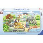 Ravensburger Puzzle cadre : Voyage Au Zoo (15 pièces)