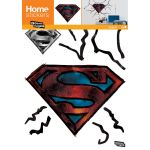 Sticker mural Superman logo encastré dans le mur