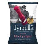 Tyrrell's Chips de pommes de terre au sel de mer et poivre moulu - Sachet 40g