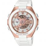 Casio Femme G-Ms Glamorous Gold Alarm Chronograph Watch MSG-400G-7AER