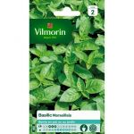 Vilmorin Sachet graines de Basilic Marseillais - Originaire d'Inde où on lui attribuait une nature divine est très employé dans la cuisine méridionale.