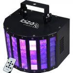 Ibiza Light BUTTERFLY-RC - Effet butterfly a 6 led couleur avec télécommande