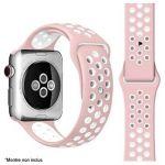 Ibroz Bracelet Apple Watch Sport 44mm rose/blanc