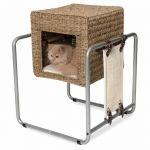Catit CATIT Meuble à chat V-Cube - Rotin