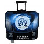 Olympique de Marseille 41cm OM Cartable a Roulettes Mixte Enfant, Noir