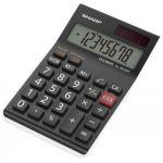 Sharp EL-M700TWH - Calculatrice de bureau EL-M700T, 8 digits, pile/solaire, coloris noir