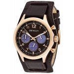 Orphelia 81505 - Montre Femme - Quartz - Chronographe - Chronomètre - Aiguilles - Luminescent - Bracelet Cuir Marron