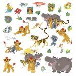ROOMMATES Stickers Le Roi lion repositionnables