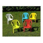 Blatt Salon de jardin enfant table + 4 chaises assorties