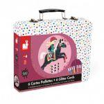 Janod Cartes paillettes le Monde du Cheval - Malette Arts Créatifs