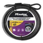 Master Lock Câble en acier tressé à boucles protection vinyle longueur 4.5 m diamètre 10 mm