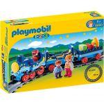 Playmobil 6880 - 1.2.3 : Train étoilé avec passagers et rails