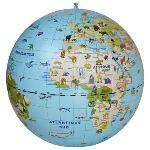 Partner jouet Globe terrestre gonflable : enquête animaux - 50 cm