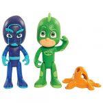Giochi Preziosi 2 figurines Pyjamasques 7,5 cm : Gekko et Ninja