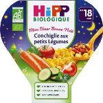 HiPP Biologique Mon dîner Bonne nuit : Conchiglie aux petits Légumes 260g - dès 18 mois