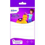 Avery-Zweckform ETVET30 - 30 étiquettes blanches à vêtements, format 26 x 15/ 26 x 13 / 45 x 13 / 96 x 30 mm
