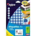 Agipa 114312 - 960 pastilles adhésives bleues, diamètre 15 mm (10 feuilles A5 / cdt)
