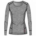 Odlo Suw Natural T-shirt manches longues à col ras-du-cou Homme, grey melange-grey melange XXL Maillots de corps