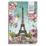 Exacompta 186908E - Agenda 12x17 Forum Les Cakes de Bertrand ML, visuel Tour Eiffel