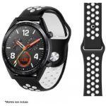 Ibroz Bracelet Samsung/Huawei Sport 22mm noir/blanc