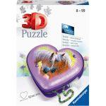 Ravensburger Puzzle 3D - Boîte Coeur - Chevaux