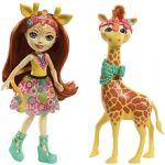 Mattel Poupée Enchantimals Balade Zoo Girafe Gillian