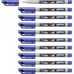 Stabilo Boîte 10 feutres toutes surfaces Write-4-all pointe fine bleu