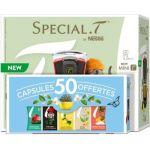 Krups Special T Nestlé Mini T 1480 W Noir et coffret 50 capsules