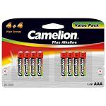 Camelion Pack de 8 piles Alcaline LR03 AAA