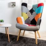 The home deco factory Fauteuil Design Coloré Helsinki Patchwork