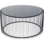 Kare Design Table basse ronde Wire noire 80cm