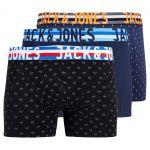 Jack & Jones NOS Jachenrik Trunks 3 Pack Noos Boxer, Multicolore (Black Detail: Navy Blazer & Navy Blazer), Medium Homme