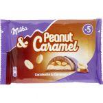 Milka Barres chocolatées cacahuètes et caramels - 5x 37 g