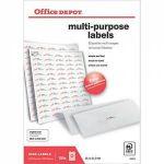 Office dépôt Étiquettes multifonctions Coins arrondis 38 1 x 21 2 mm Blanc 38 1 x 21 2 mm 100 Feuilles de 65 Étiquettes