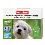 Beaphar Pipettes répulsives antiparasitaires pour petit chien - de 15 Kg